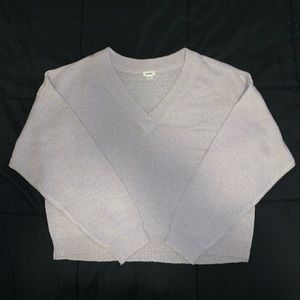 Garage V-Neck Cropped Sweater